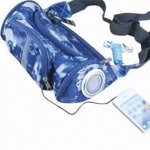 Mini portable speaker bag, 2W output power Manufactures