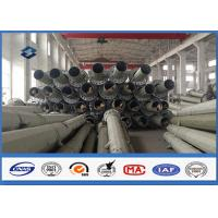 Philippines 69KV 50FT 55FT 60FT Power Transmission Pole with Hot Dip Galvanized Manufactures
