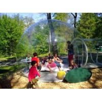 Fireproof inflatable transparent tent / outdoor inflatable tent with One Tunnel Manufactures