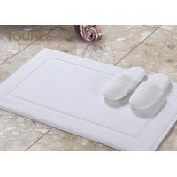 China Sanitized Logo Hotel Non Slip Bath Mat / White Bathroom Floor Mats on sale
