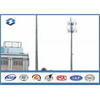 Microwave Telecommunication electric service pole , Hot Roll Steel Q420 wireless communication towers Manufactures