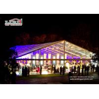 Easy Up 400 People  Outdoor Party Tent With Transparent Roof Cover And Sidewalls Manufactures