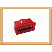 RED 16 Pin Obd Connector Replacement Obd Ii Connector CK-SOM002B Manufactures