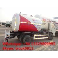 good performance 5,500L lpg gas filling tank truck for retail and mobile selling, 2tons mobile lpg gas dispensing truck Manufactures