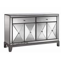 55 Inch Height Mirrored 4 Door Sideboard , Luxury Devin Mirrored Sideboard Manufactures