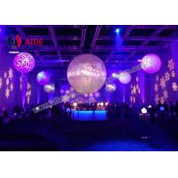 Colorful Inflatable Balloon Led Light Inside , Prism Lighting Inflatable Light Tower For Stage Manufactures