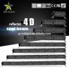 55800 LM Lumen 24v Led Light Bar , Black Spot Led Light Bar For Truck Manufactures