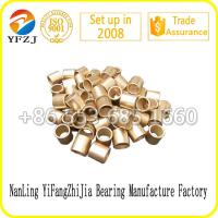 Oilless bearing gold supplier slide bush factory direct  oil bearing bush,sintered copper sleeve Manufactures