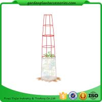 "Large Tall Tomato Plant Stakes , Red Heavy Duty Tomato Cages size 14"" in diameter x 66"" H overall Fabric is imported Manufactures"