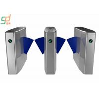 Card Integration Flap Gate Barrier , Museums Turnstile Entrance Gates Stainless Steel Manufactures