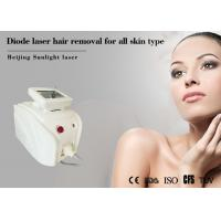 Safety 808nm Diode Laser Hair Removal Machine Water Temperature Self - Checking Manufactures