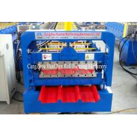 China High Speed Steel Roofing Sheet Roll Forming Machine with Flying Cutting on sale
