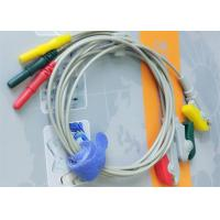 Din Style IEC Safety 3 Leads ECG Monitor Cable And Leadwires Compatible All Brand Manufactures
