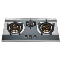 Buy cheap Silver Stainless Steel LPG Gas Cooktop , 3 Burner Kitchen Gas Hob from wholesalers