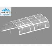 120km/h Wind Flame Retardant 10x20m Aluminum Frame Party Tent , Luxury All Season Customized PVC Color Manufactures