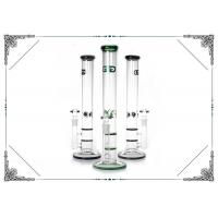 Buy cheap 17'' Grace Straight Tube Glass Water Pipe With Double Honeycomb Perc Hookah Bong from wholesalers