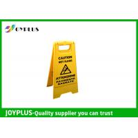 Yellow Plastic Caution Sign Board / Portable Sign Stands Eco Friendly 62x30cm Manufactures