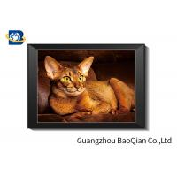 Cute Cat Lenticular Printing Picture With Frame 40 x 40 cm PET 0.65 mm Manufactures