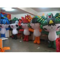 210D Oxford Cloth Big Inflatable Cartoon Costumes Inflatable Mascot For Advertising Manufactures