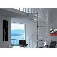 Indoor / Outdoor Custom Spiral Staircase Steel Post With Rod Bar Balstrade Manufactures