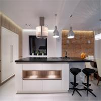 Free Standing MDF Kitchen Cabinets Quartz / Granite Countertop Easy For Cleaning Manufactures