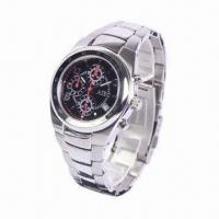 Sports Wristwatch, Made of Stainless Steel Manufactures