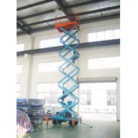 Motorized scissor lift with loading capacity 500Kg and 9M Lifting Height and Extension platform Manufactures