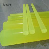 High Intensity Polyurethane Rubber Products , Polyurethane Rubber Round Bar Manufactures