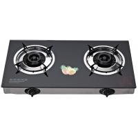 Portable Tempered Glass Top Table Top Stove Gas Two Burner With Electronic Ignition Manufactures