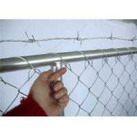 Buy cheap 8'x10' OD42mm Construction Fence Panels Chain Link Mesh Fencing Panels 2430mm x 2950mm Mesh 63mm x 63mm Diameter 2.7mm from wholesalers