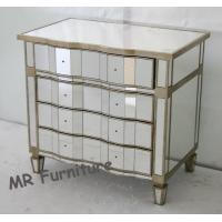 Moscal Mirrored Bedroom Chest Gold / Optional Color Curved Drawers Manufactures