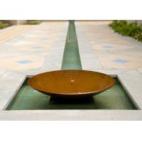 Garden Decoration Large Bowl Water Feature / Corten Steel Water Bowl Garden Feature Manufactures