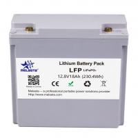Lithium Battery Pack LFP LiFePO4 12.8V 18Ah 230.4Wh with grey color case Manufactures