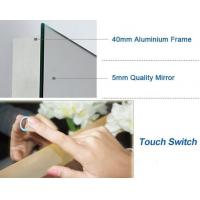 Energy Saving Illuminated Bathroom Mirrors , Wall Mirror With Led Lights Manufactures