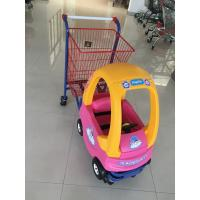 Metal Kids Shopping Carts , Kids Shopping Trolley Travelator Casters CE / GS / ROSH Manufactures