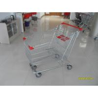 Zinc Plated  Chromed Grocery Shopping Cart 240L Hand  With Metal Tube Base Manufactures
