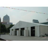 18m Wide Clear Span Aluminum Tent Frame , White Event Tent With Air Condition System Manufactures