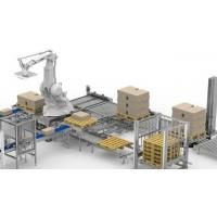 China Flexible Robotic Palletizing System , Canned Food Industry Robotic Case Packer on sale