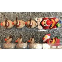 Xmas duck toys set of Santa Duck with 3 baby reindeer ducks for Christmas duck promotion gift Manufactures