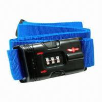 Combination TSA Luggage Strap Lock with 3-dial (Safe Skies Branded) Manufactures