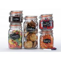 Clear glass canister set for kitchen storage sets with clamp lids for promotional and retailers Manufactures