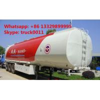 Quality carbon steel 55,000L fuel trailer for sale, factory sale best price CLW 38.5tons gasoline tank trailer for sale for sale