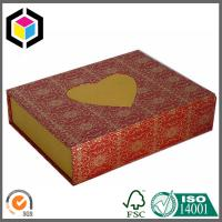 Heart Shape Logo Gold Foil Chipboard Paper Gift Box; Luxury Gift Paper Box Manufactures