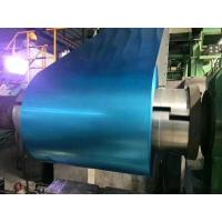 Blue Tinted Anti - Finger Print Hot Dipped Galvalume Steel Coil Thickness+/-0.01mm Manufactures