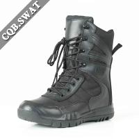 Foam Padded Collar Leather Military Boots Black Color Use for Pilots Manufactures