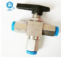 China Manual Operating Stainless Steel Ball Valve Three Way With Npt Female Thread on sale