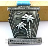 Antique pewter sports event metal medal with ribbon, vintage pewter metal ribbon medals Manufactures