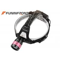 CREE T6 Outdoor Zoomable Led Headlamp, Water Resistant Bicycle Headlights Manufactures
