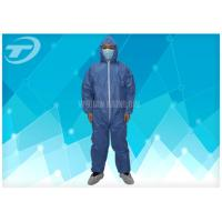 Disposable Protective Clothing Non - Woven Disposable Coveralls With Hood Manufactures