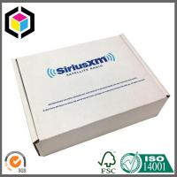 Flexo Print Custom Two Color White Corrugated Cardboard Fold Shipping Box Mailer Manufactures